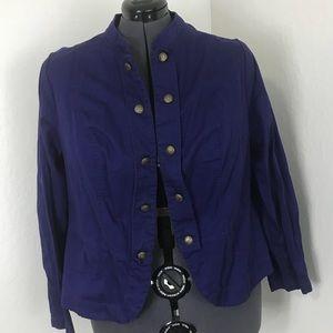 Dark blue Dutton down featured blazer jacket